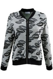 Burnout Lips Zip Jacket