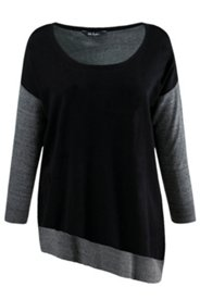 Drop Shoulder 2 Color Sweater