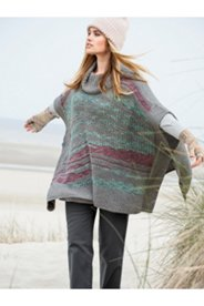 Roll Neck Sweater Poncho