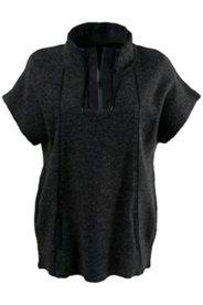 Zip Dolman Seam Knit Top