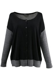 Colorblock Drop Shoulder Cardigan Sweater
