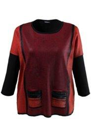 Printed Colorblock Sweater