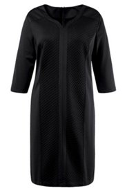 Diamond Quilt Insert Knit Dress
