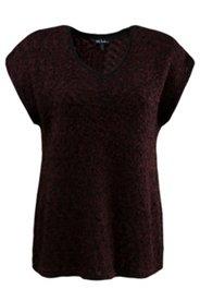 V-neck Marled Cap Sleeve Sweater