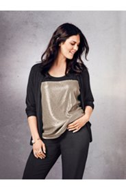 2-in-1 Sequin Knit Top
