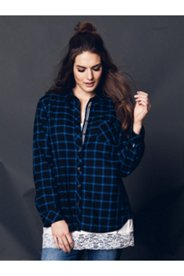 Black & Blue Plaid Shirt