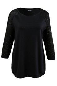 Glitter Sequin Raglan Sleeve Top