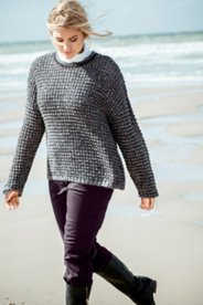 Textured Short Boxy Sweater