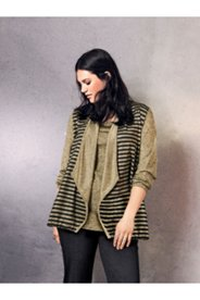 Gold Stripe Knit Jacket