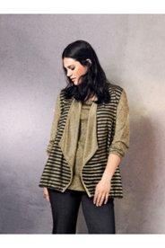 Gold Stripe Knit Jacket