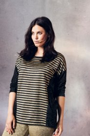 Gold Stripe Knit Top