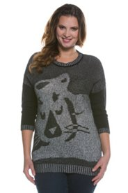 Cat Design Boxy Sweater