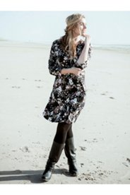 Winter Floral Knit Dress