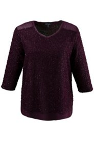 V-Neck Metallic Soft Sweater