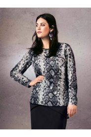 Snakeskin Placket Blouse