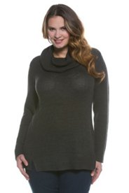 Cowl Neck Seamed Sweater