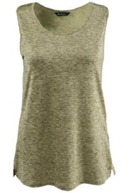 Heathered Gold Tone Knit Tank