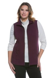 Zip Mix Fabric Vest