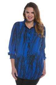 Abstract Stripe Blouse