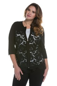 Sheer Lace Inset Jacket