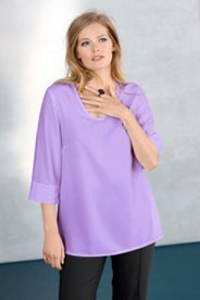 Round Neck Simple Blouse