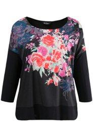 Placement Print Floral Blouse