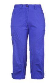 Cargo Pocket Pintuck Hem Capri