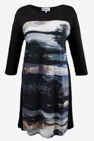 Grey Sky Print Knit Dress