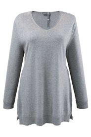V-Neck Sparkle Accent Sweater