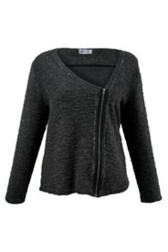 Asymmetric Zip Front Sweater