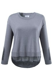 Accent Metallic Roundneck Sweater