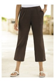 Tropic-cool Cropped Gauze Pants