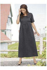 Delightful Dots Knit Empire Dress