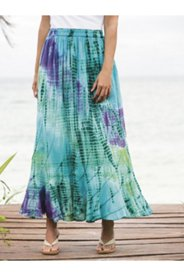 Janis Tie Dye Crinkle Cotton Skirt