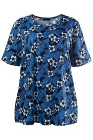 Flowers Everywhere Knit Print Tunic