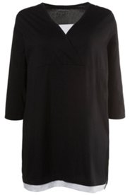 Two-in-One Surplice Knit Tunic