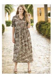 Island Palms Knit Empire Dress