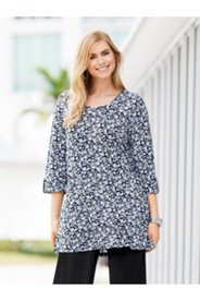 Matte Jersey Roll Sleeve Tunic