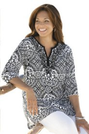 Marvelous Medallions Knit Tunic