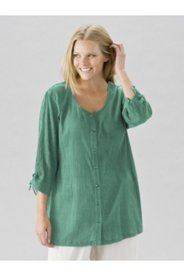 Tropi-cool Round Neck Cotton Gauze Tunic