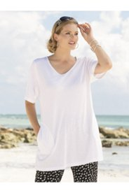 V-neck Patch Pocket Knit Tunic