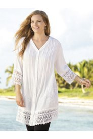 Cassandra Gauze and Lace Tunic
