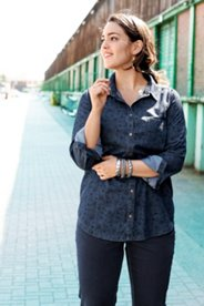 Floral Print Denim Shirt