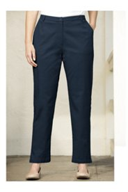 Straight-leg Stretch Twill Pants