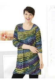 Dimensional Print Knit Tunic