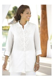 Savannah Crocheted Applique Tunic
