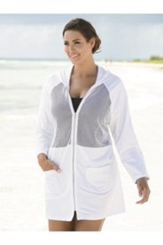 Malibu Cotton Mesh Zip-front Jacket