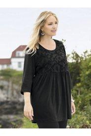 Carole Mesh Overlay Knit Tunic