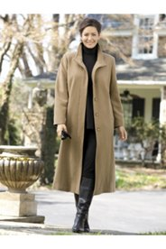 Covered Placket Dress Coat