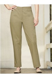 L-Pocket Seamed Stretch Twill Pants